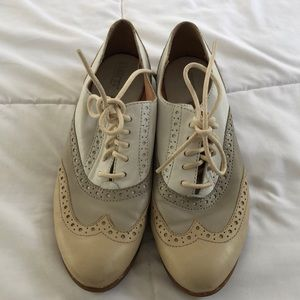 Born leather oxford saddle shoes